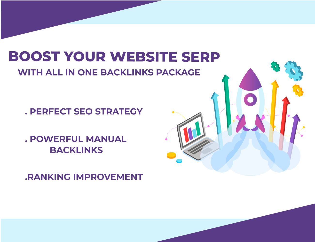 I will do latest manually done SEO backlinks packages