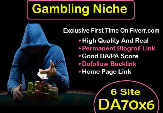 60 CASINO/POKER Gambling,  Judi Bola,  Relate PBN Backlink with BLOG POST And Google 1st Page Ranking