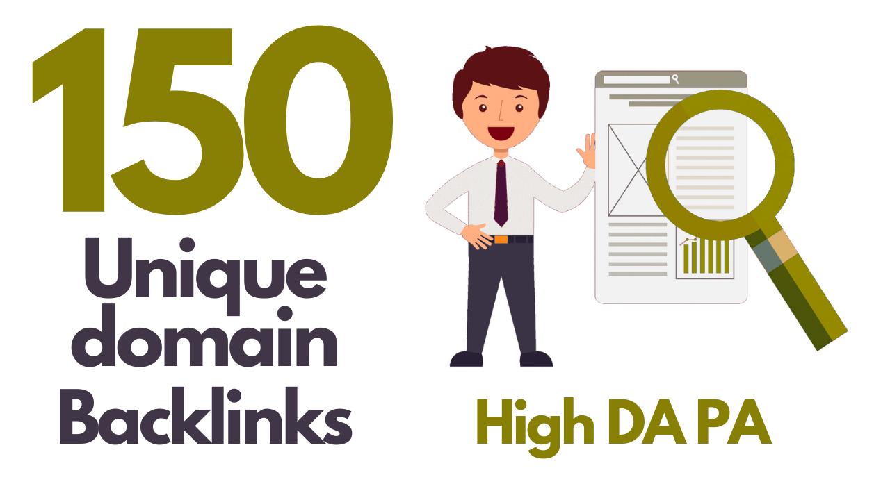 I will do 150 unique domain blog comment DA 30-50+ dofollow quality backlinks