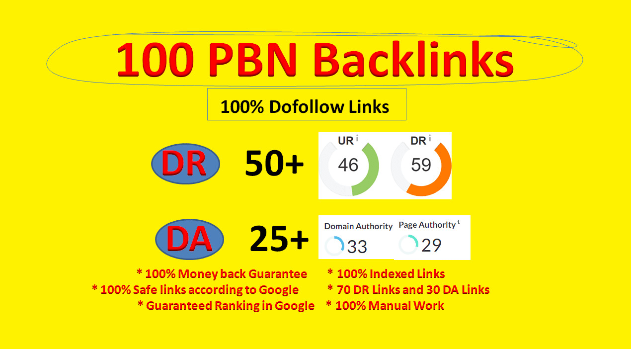Bluild 100 PBN DR 50+ homepage permanent seo dofollow backlinks website ranking