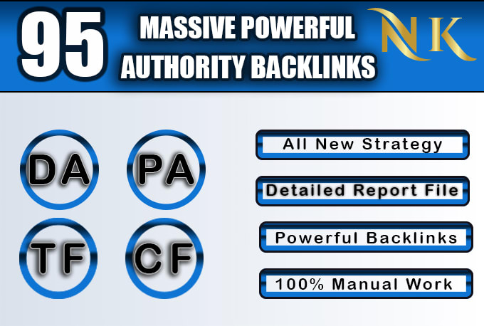 Get 95 Unique Mix Dofollow Backlinks On Top High DA 95 Domains