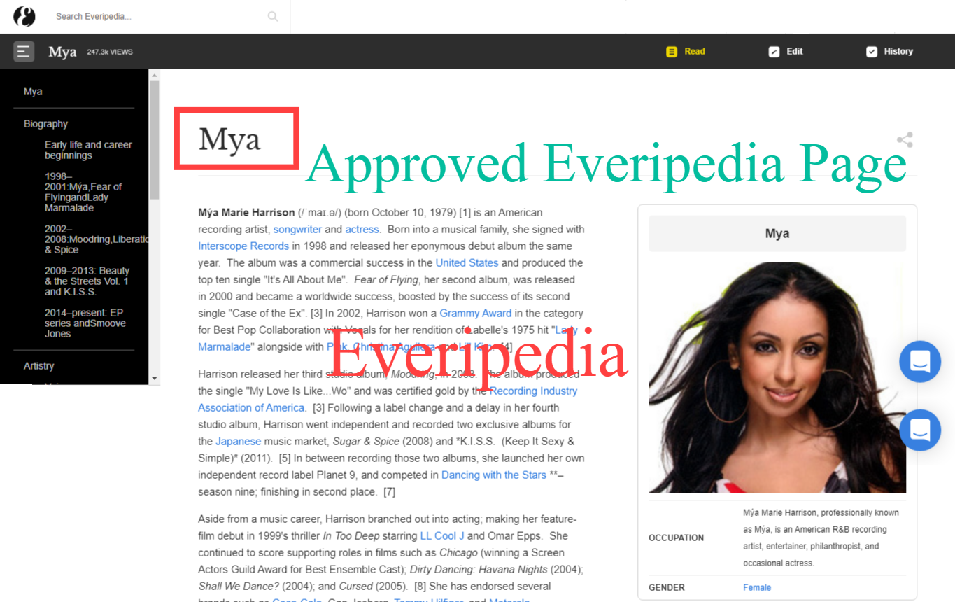 I will Create Approved Everipedia page DA 77 for you or your business