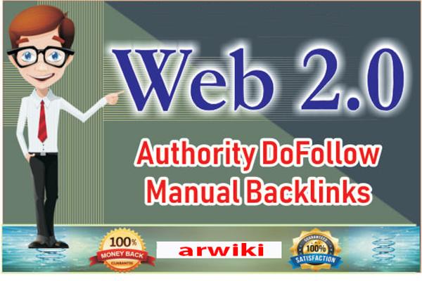 I will create web 2.0 dofollow backlinks service da 70 plus