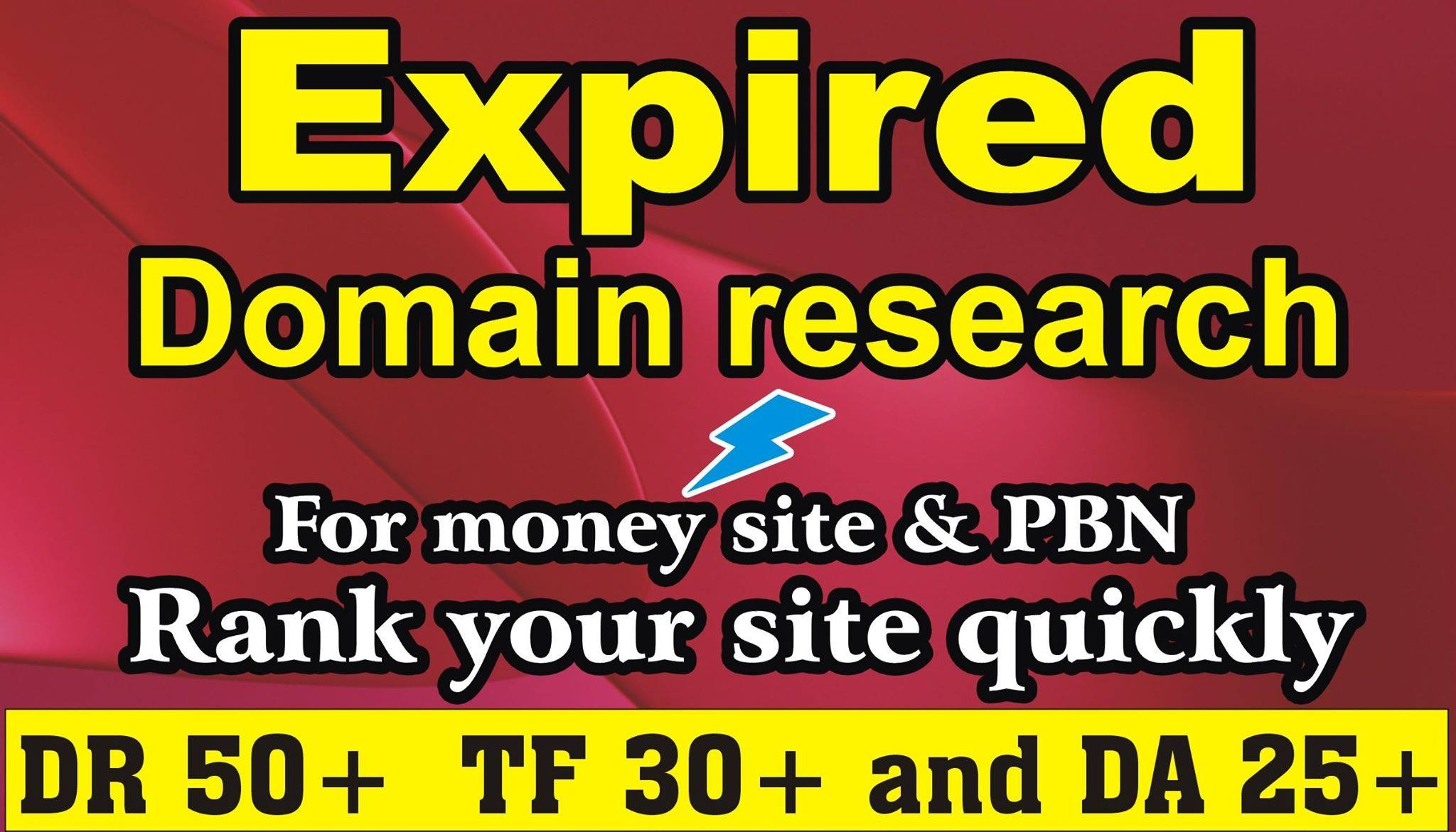 I will find High Authority Expired Domain in cheap price