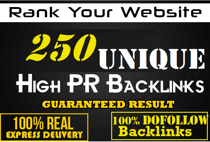 Make 250 High DA 50 plus sites Unique Domain Dofollow blog comment backlinks
