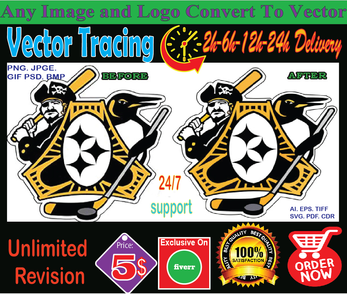 convert to vector tracing vectorize logo redesign redraw image raster to vector