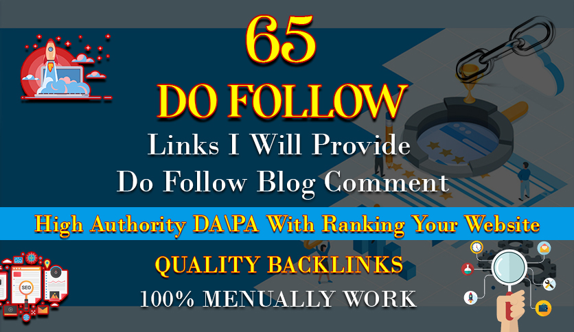 I will provide 80 dofollow blog comment backlink off page seo