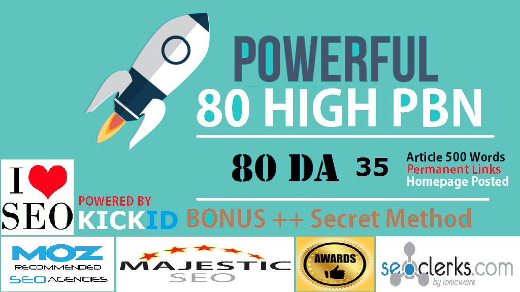 80 PowerFul High PBN Permanent Manual PA 30 Homepage PBN Links