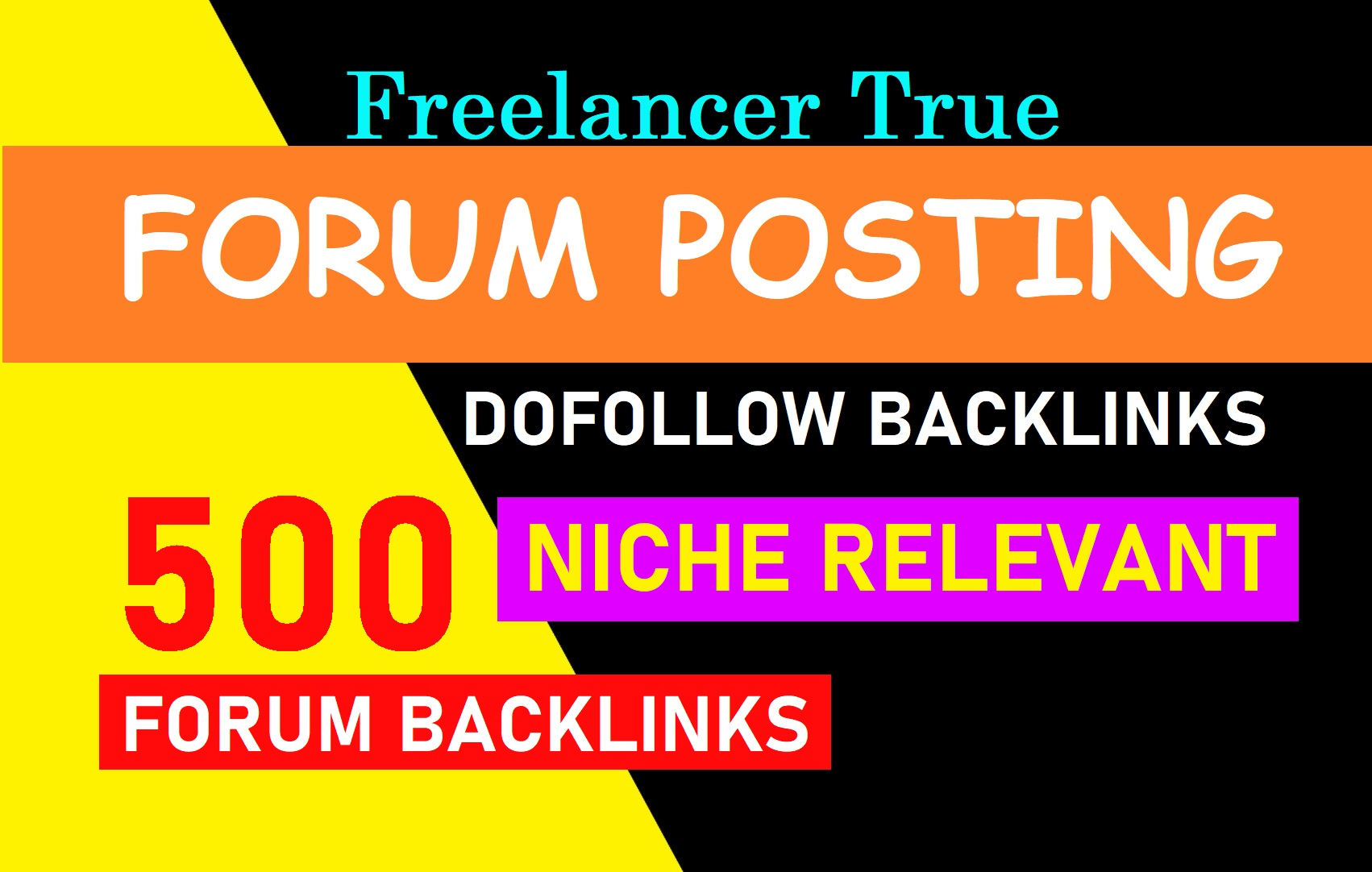 DA 50+ High Quality 50 forum posting backlinks