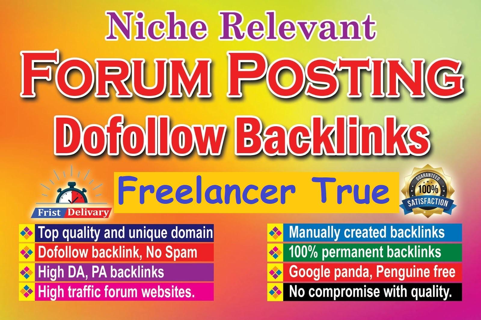 manually 200 high DA dof0llow forum posting and forum backlinks