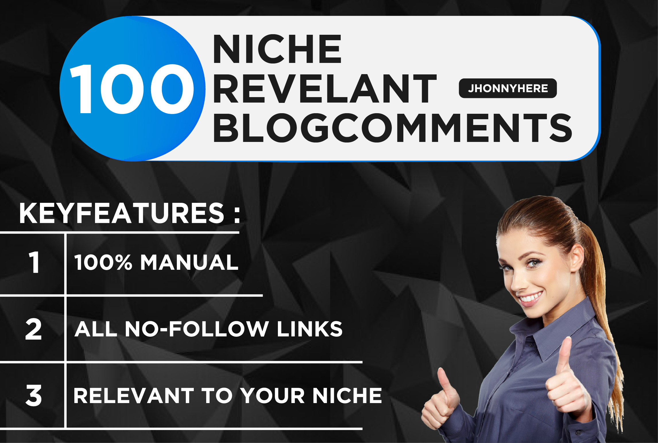 I will do 100 niche relevant blog comment quality work