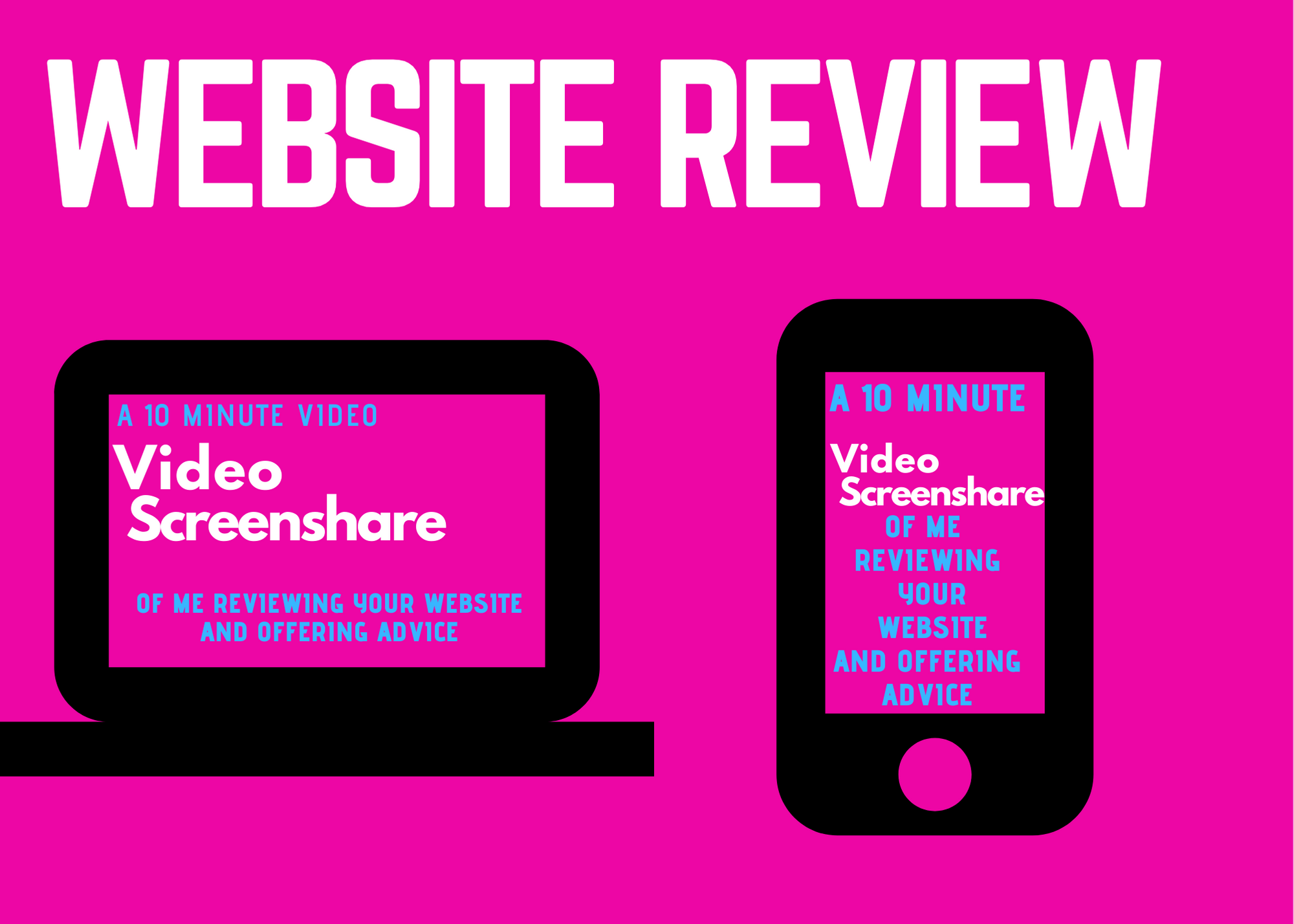 I will do a user test and evaluation of your website with video