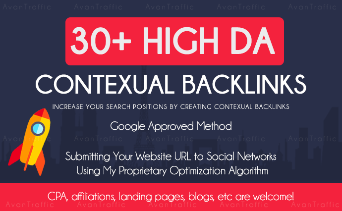 create 30 manually web 2.0 contextual backlinks