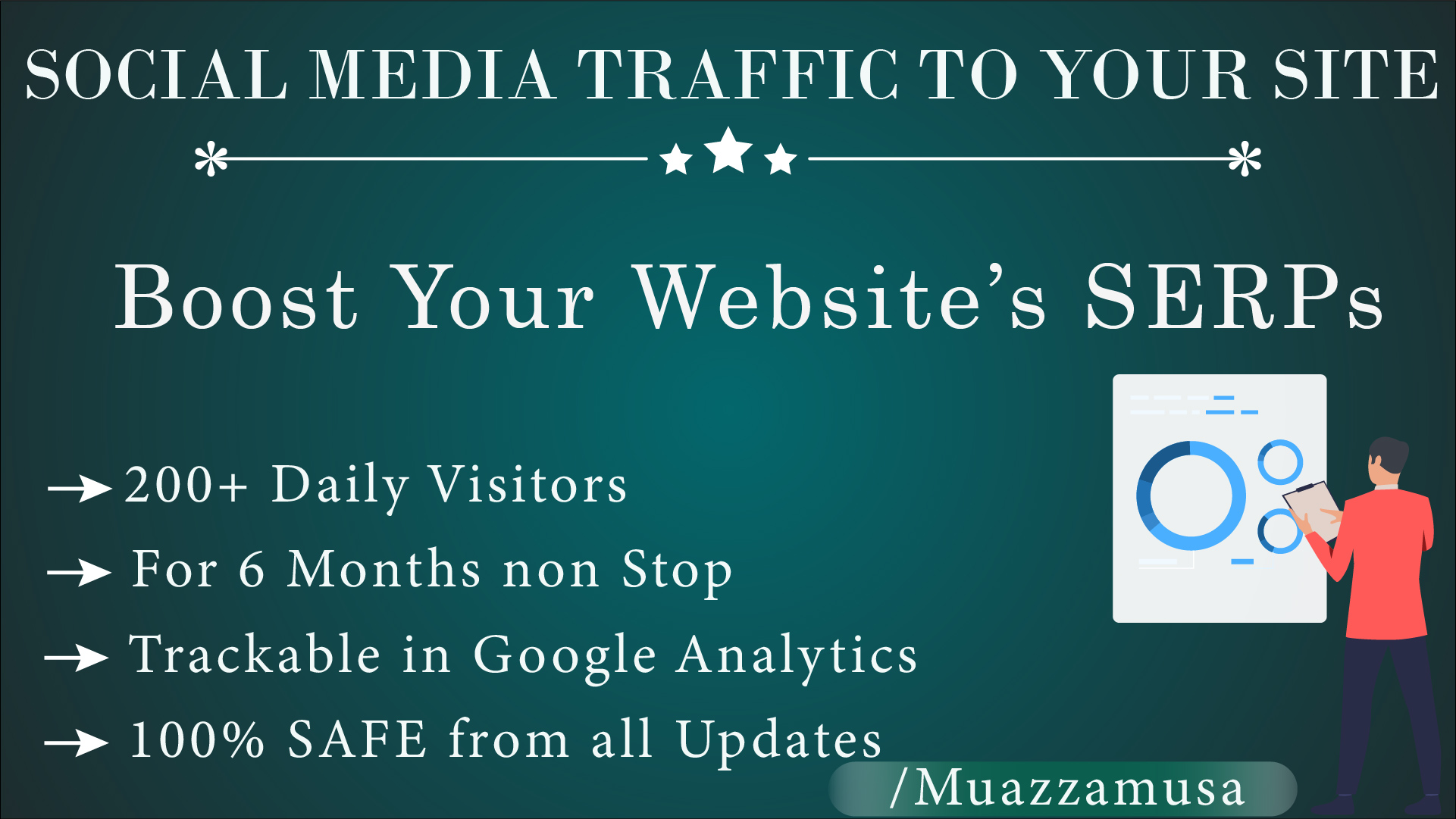 SERPs Booster - Real Social Traffic to your website for 6 months