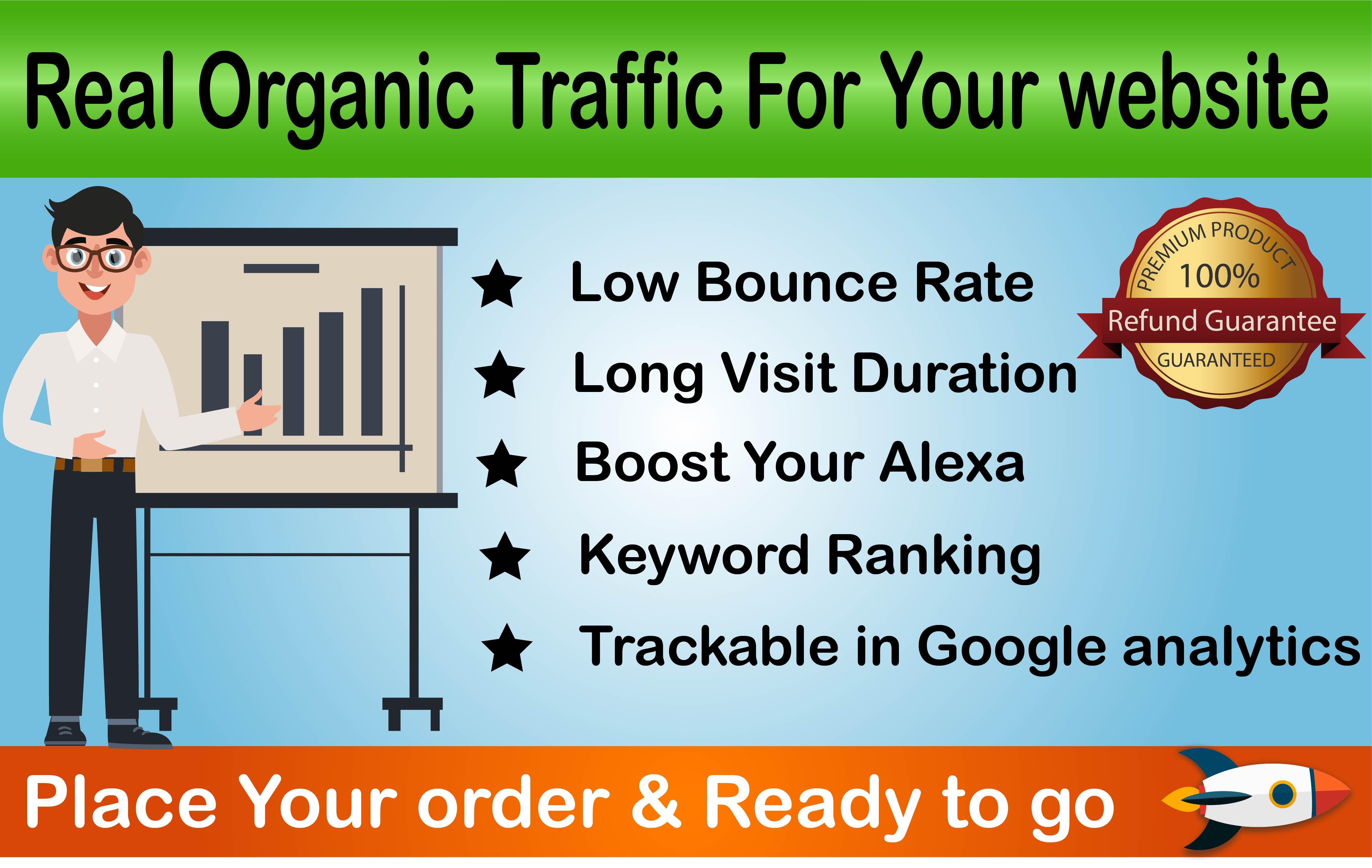 Rank Fast - Niche targeted low bounce rate organic traffic for 30 days