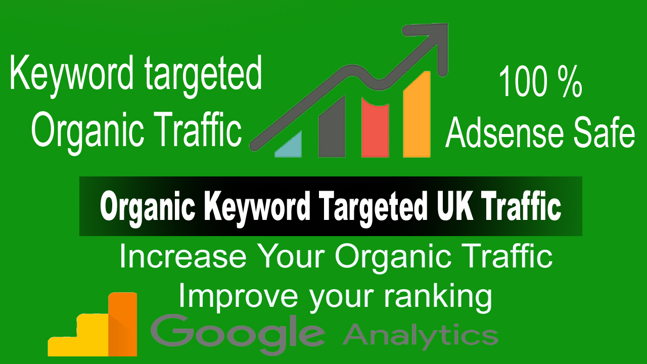 Adsense Safe UK Traffic,  UK Keyword Targeted Traffic from Google for 30 Days