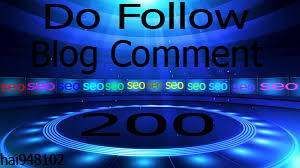I Will provide 200 manual do follow blog comment in best sites