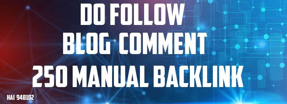 i will provide manual backlink blog comment