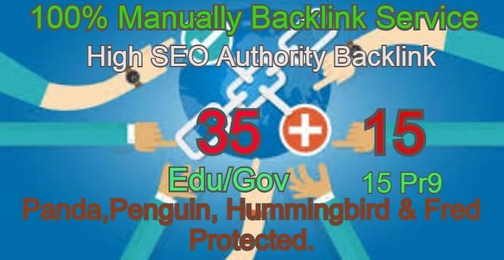 I Will Manually do 35 Edu/Guv + 15 Pr9 High DA PA Seo Profile Backlink- Skyroket your Google ranking