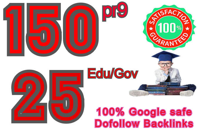 I will manually Create 150 pr9 & 25 edu gov, Moz DA 50-100,  Dofollow Profile backlinks