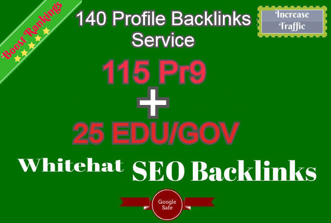 Fire Your Google Ranking With 135 High SEO Authority Profile Backlinks