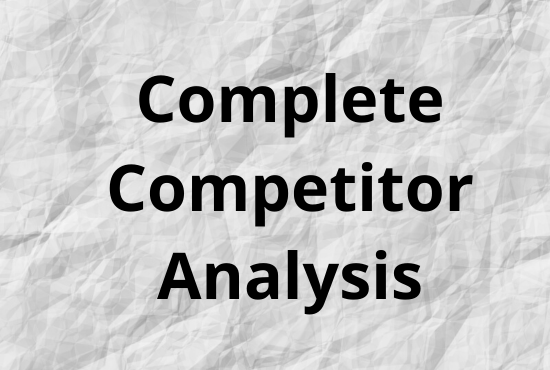 I will find 20-50 best keywords for any 2 topic/categories with 2 competitor analysis