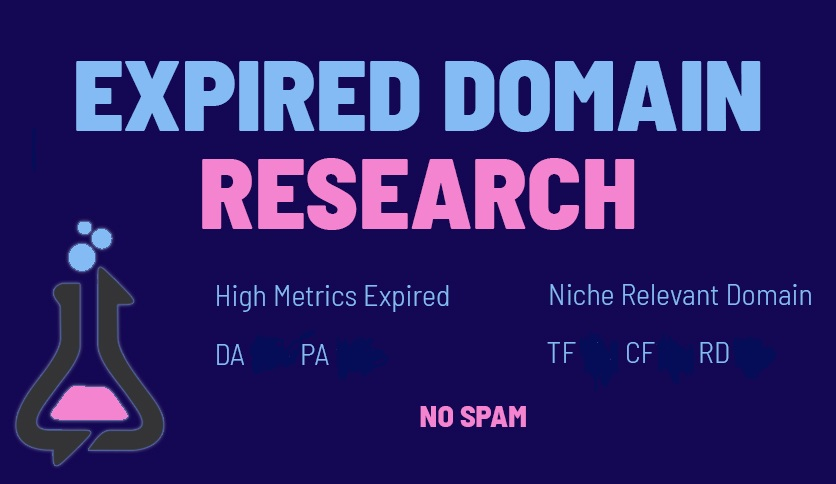 I will find high DA PA and DR expired domains