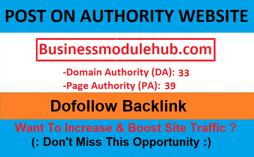 Add a guest post on authority website businessmodulehub. com