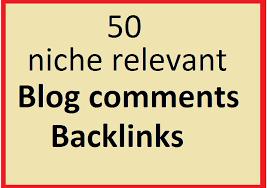 i will do 50 niche relevant blog comment backlinks
