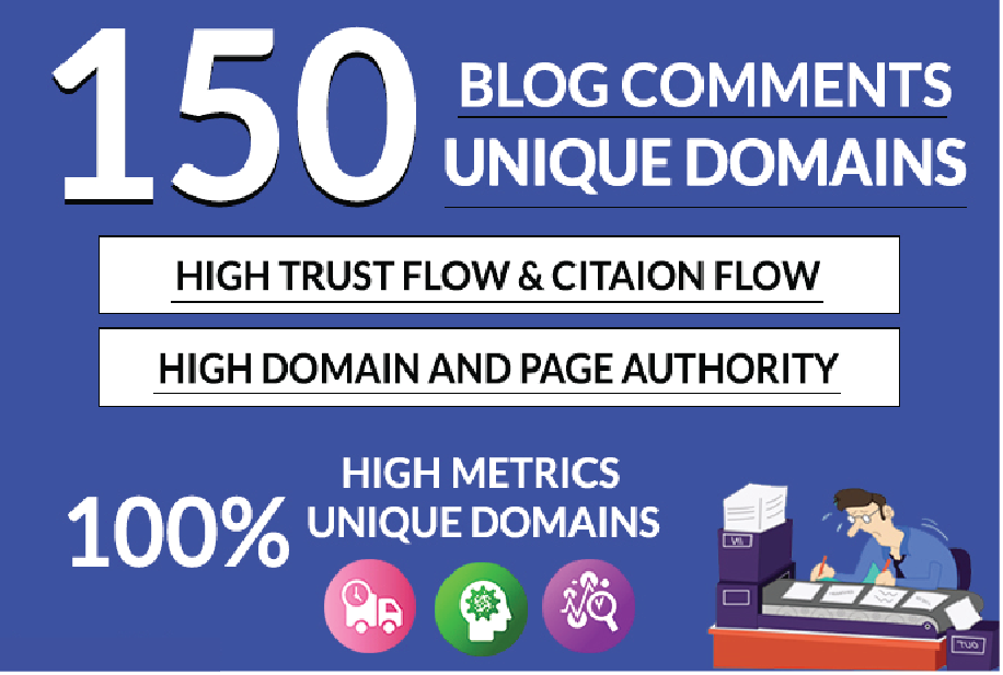 I will creat 150 unique blog comments backlinks