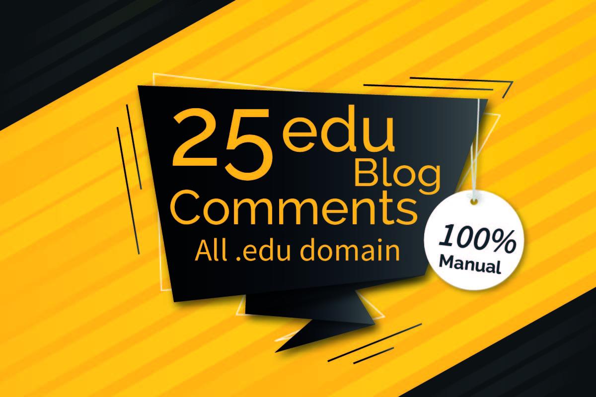 I will create 25 high da backlinks edu sites manually