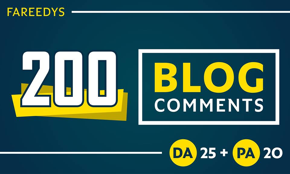 Do 200 DOFOLLOW BLOGCOMMENTS with HIGH DA PA