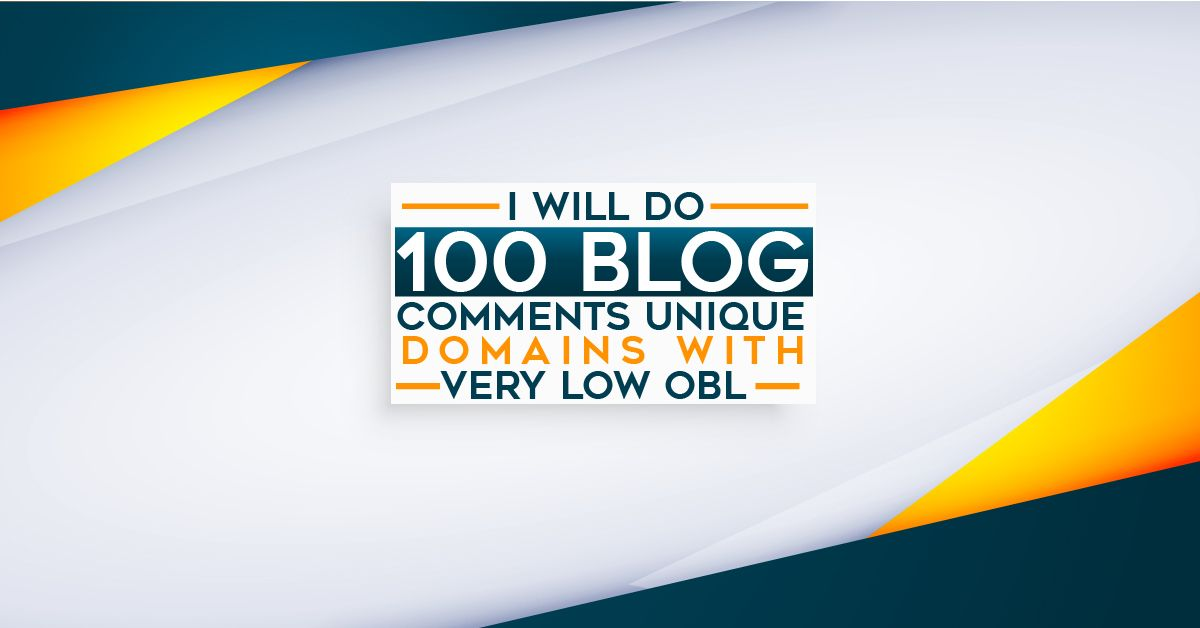 I will make 100 Backlinks Do follow Blog comments