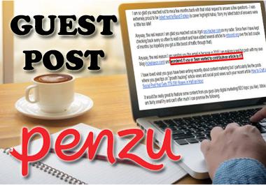 I will publish guest post on high DA 80