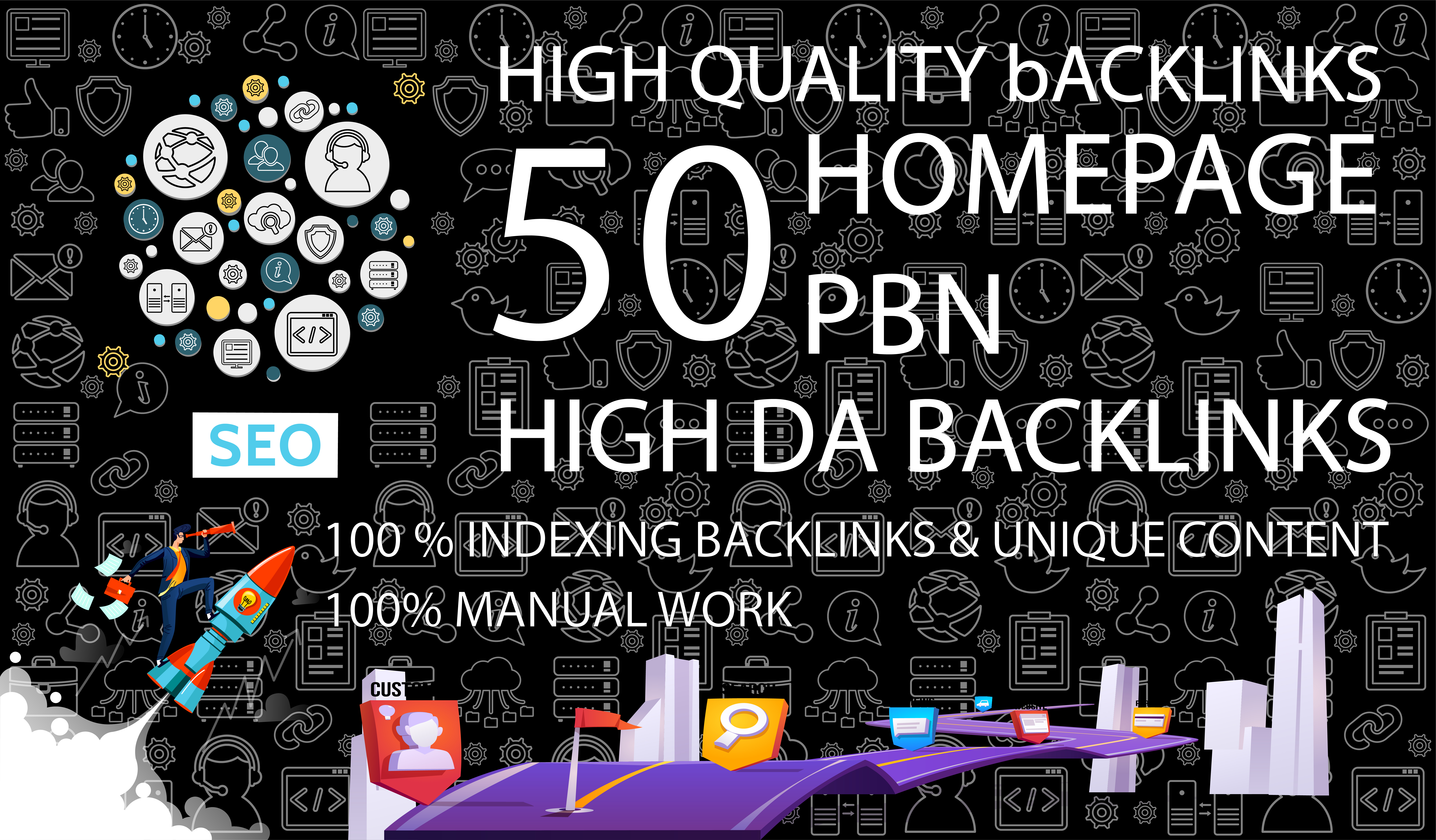 Get 50 Dofollow Homepage PBN Backlinks On High DA/PA TF/CF DR/UR