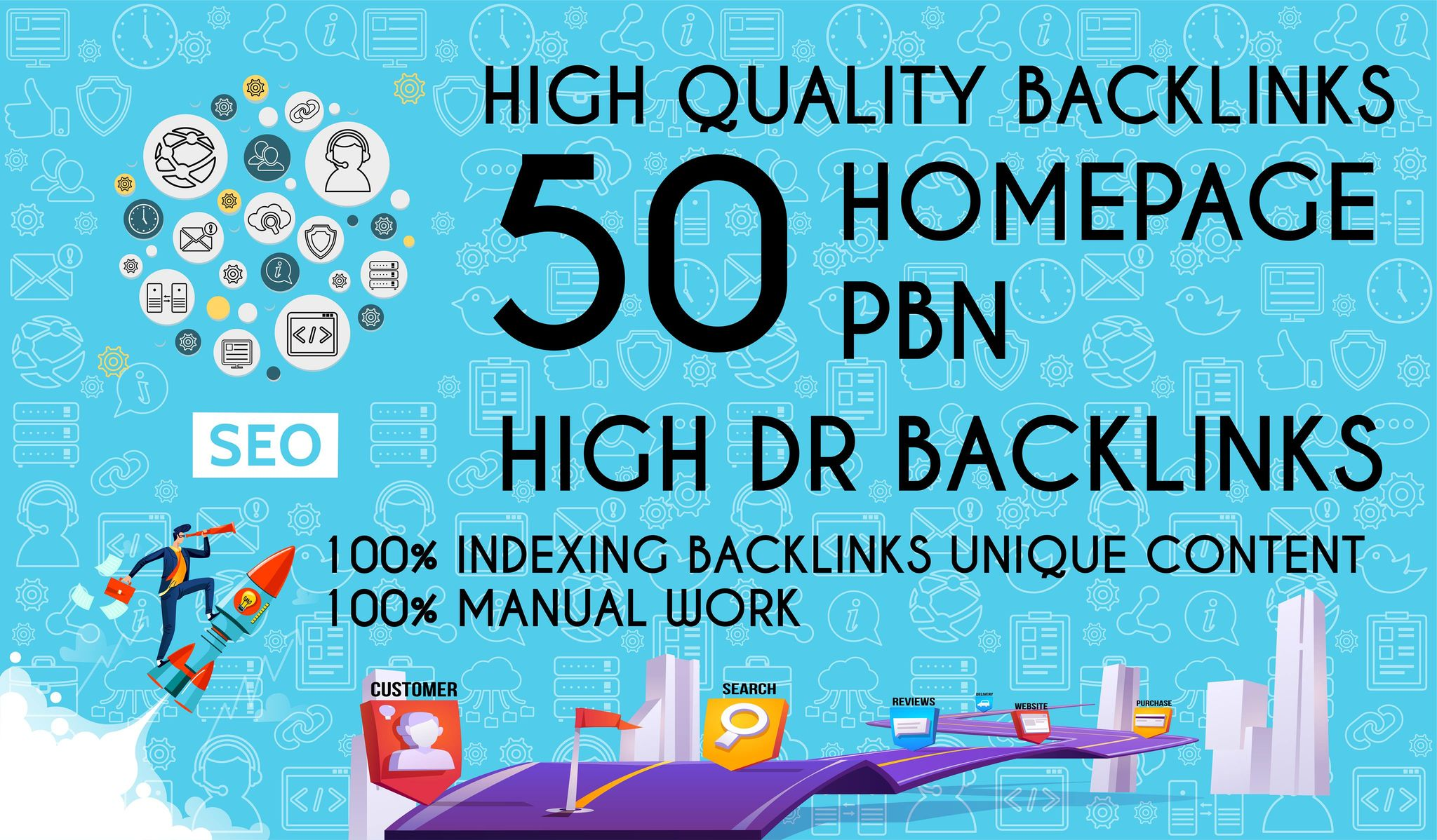 Get 50 Dofollow Homepage PBN Backlinks On High DA & DR