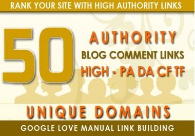 I will do 50 unique domain da 40+