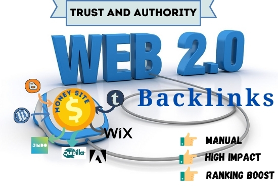 Get 20 Effective High Authority Web 2.0 Backlinks And Web 2.0 Profile Backlinks