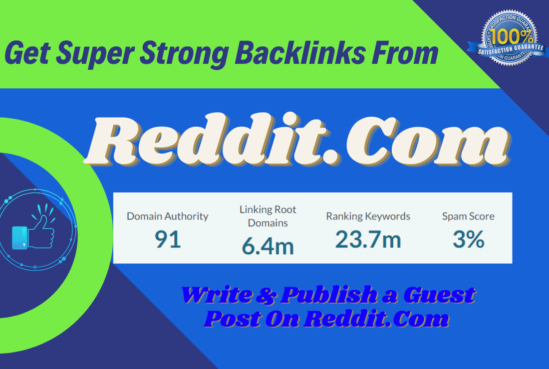 Write and publish a guest post in Reddit. Com