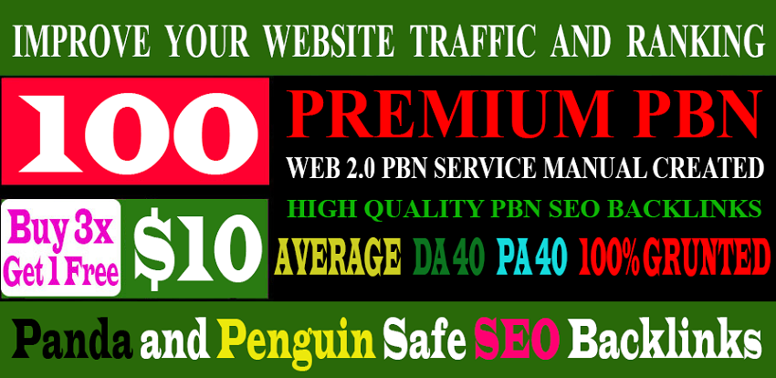 100 Premium Homepage Web 2.0 PBN Service Manual Creating High Quality SEO Do-follow Backlinks