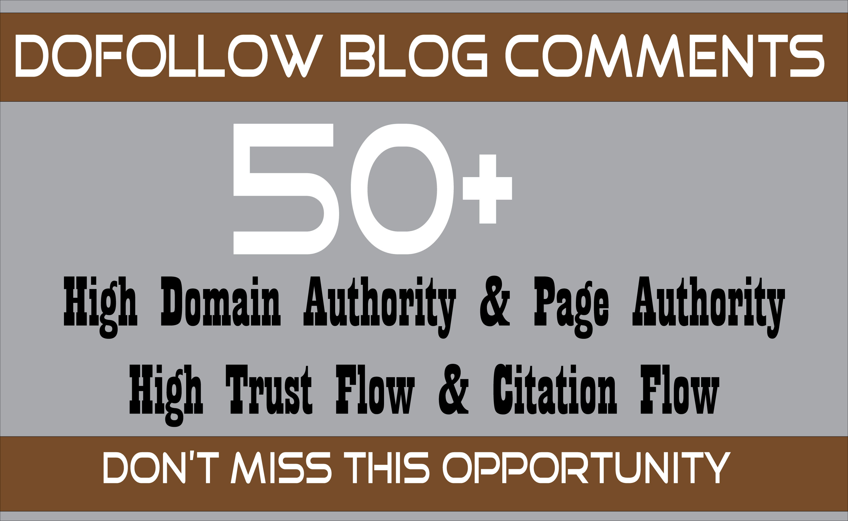 I will create 50 manual dofollow backlinks DA 40 PLUS