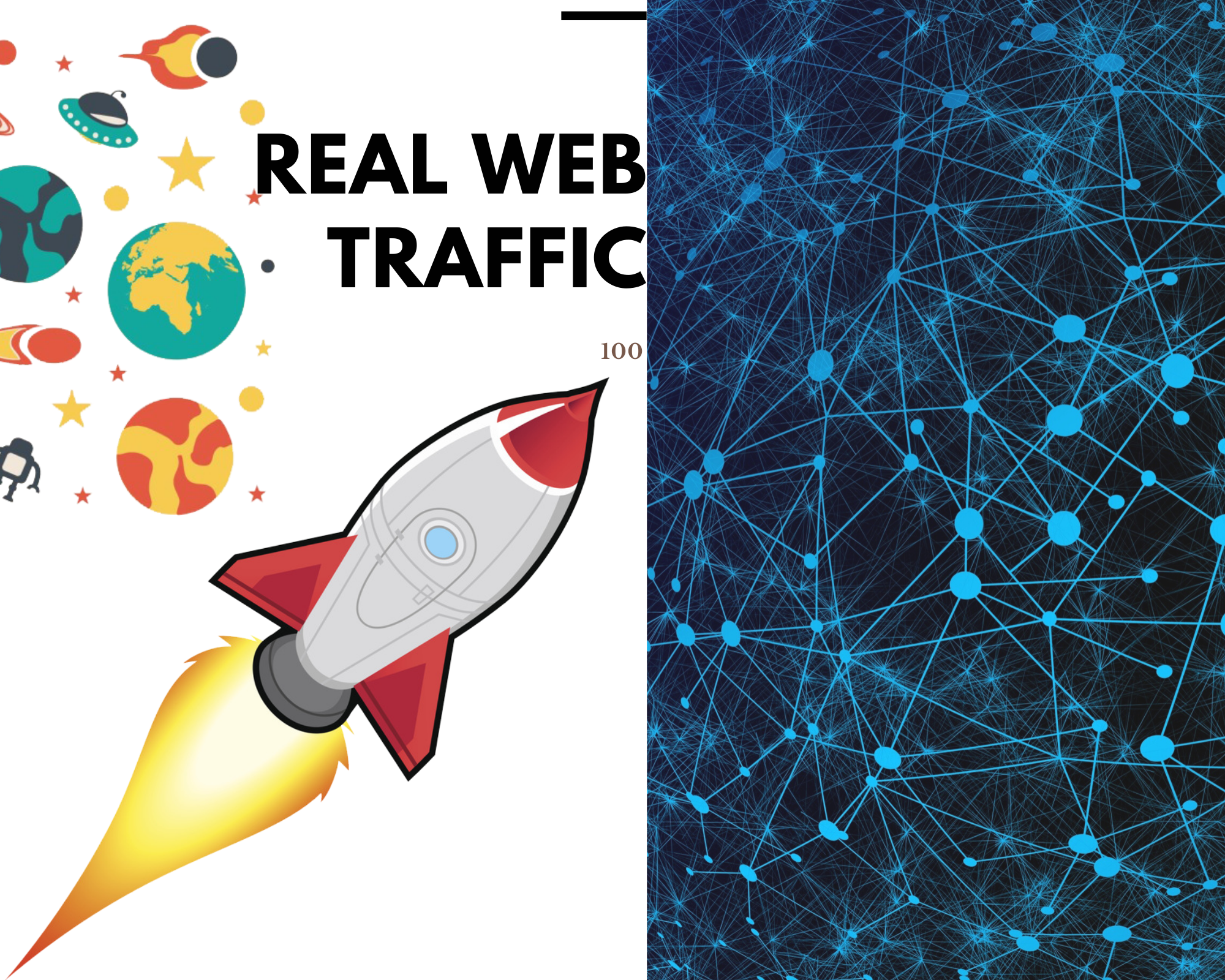 I will send real 150+ web traffic to your site