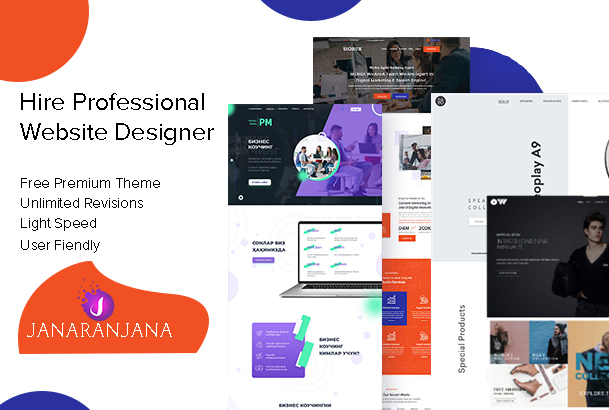 Professional wordpress Website Design or shopify full website creation