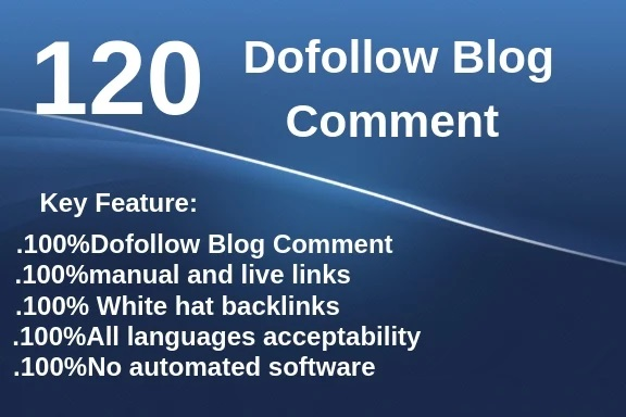 120 blog comments offpage top quality backlinks