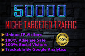 I will drive 50k usa niche targeted, visitors website, traffic