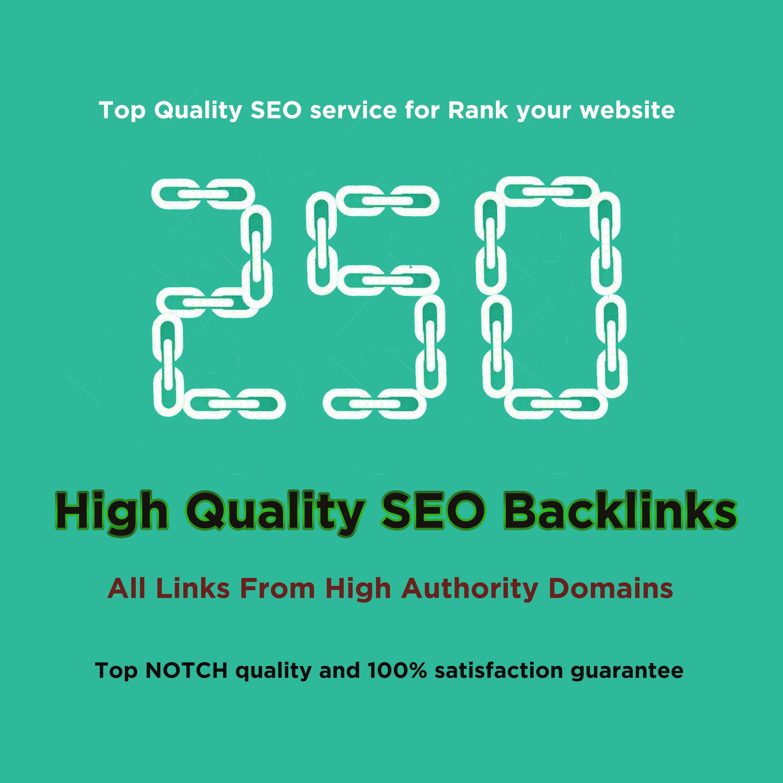 Create do 250 HQ profile backlinks manually for website seo