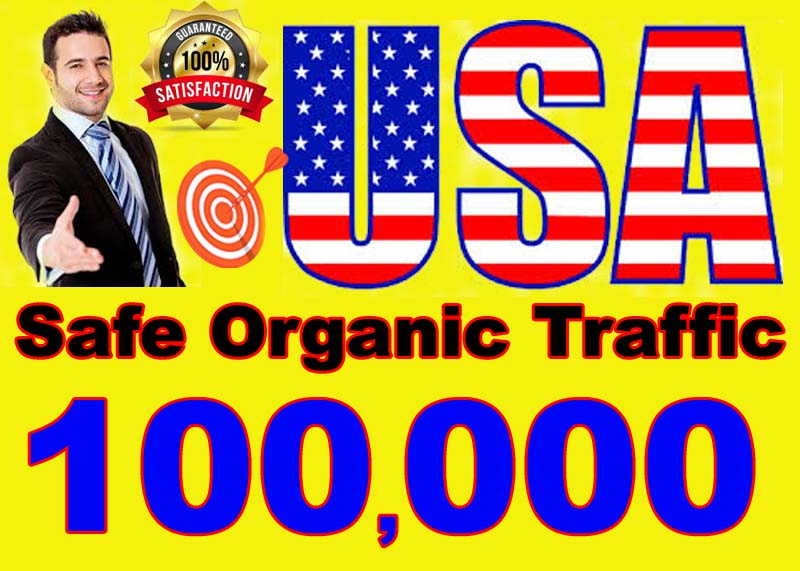 I will drive high quality and safe organic traffic visitors from USA