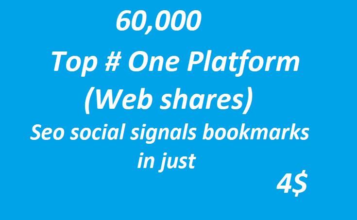 60,000+ Top One Platform SEO Social Signals Bookmarks High Quality