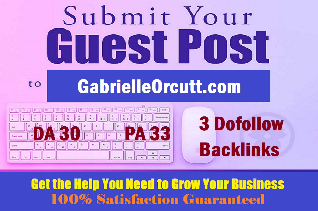 Write & publish a Yoga Blog on GabrielleOrcutt. com with 3 Dofollows