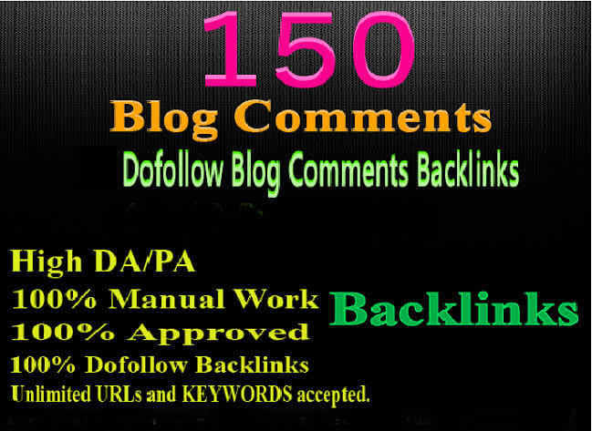 I will do 150 high authority blog comments